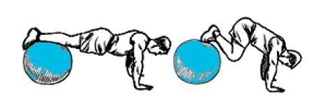 exercice pour les abdominaux avec ballon de gym