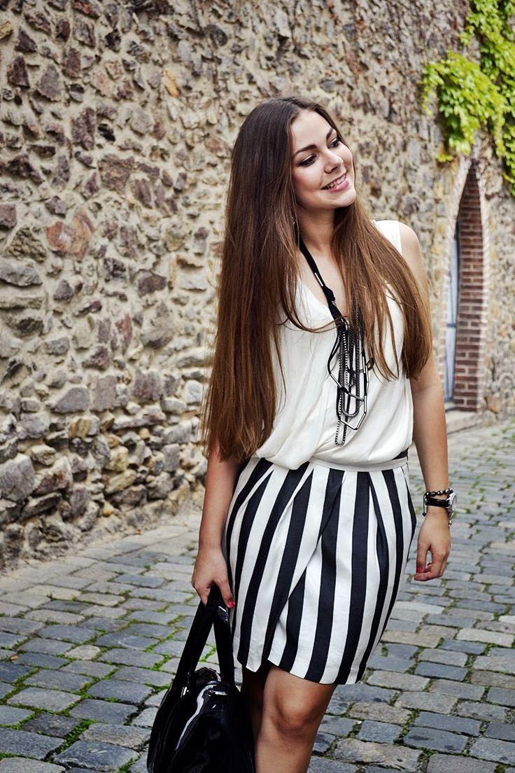 stripes, striped skirt