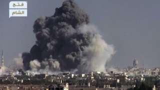 Syria conflict: Attack on government-held Aleppo 'kills 12'