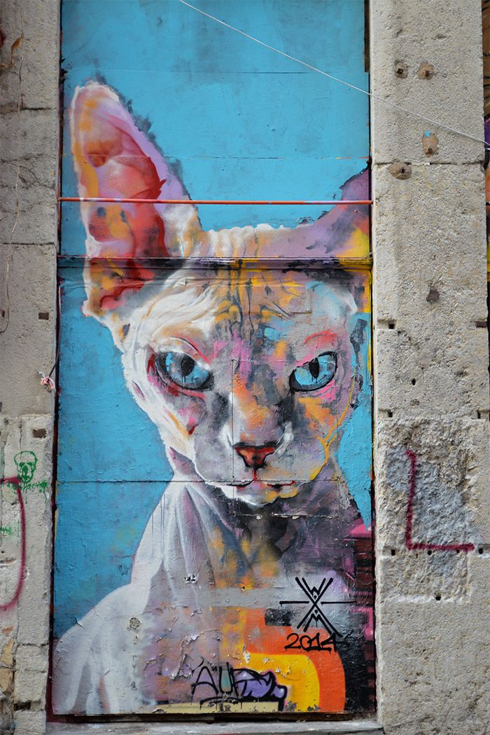 beautiful art by Walter Molli, from Naples, seen in Lyon, France