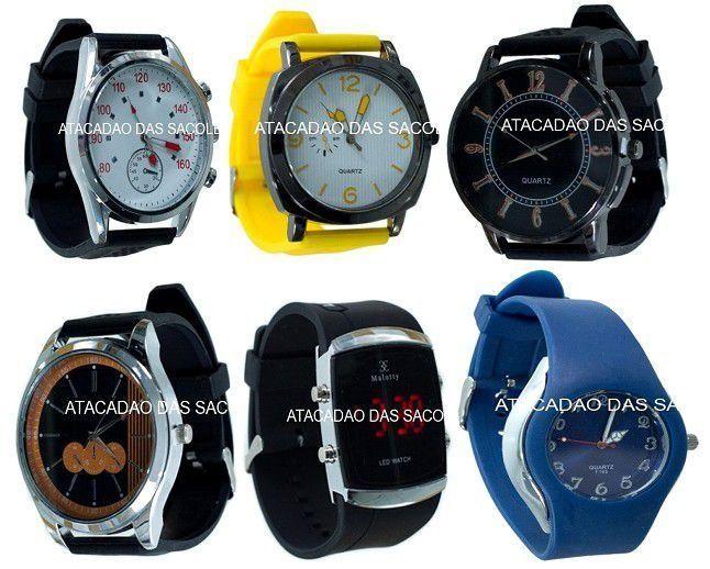 Relógios sortidos. Não são de marcas famosas - Roupas no Atacado Atacadão Das Sacoleiras Miami Brasil, Réplicas