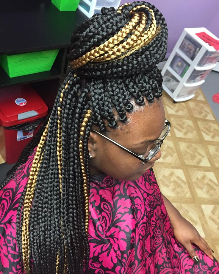 Ghana braid is the most popular ancient African hairstyle. They use a  special braiding technique that makes the style precisely interesting. We tried  to gather some Ghana braids hairstyles to match your facial shapes and outfits.  Discover more: Ghana Braids cornrows, updos.