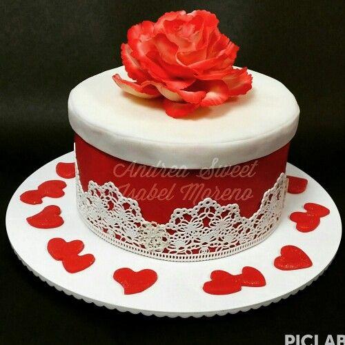 Rose red cake