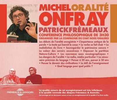 Oralité - Michel Onfray - Librairie Mollat Bordeaux