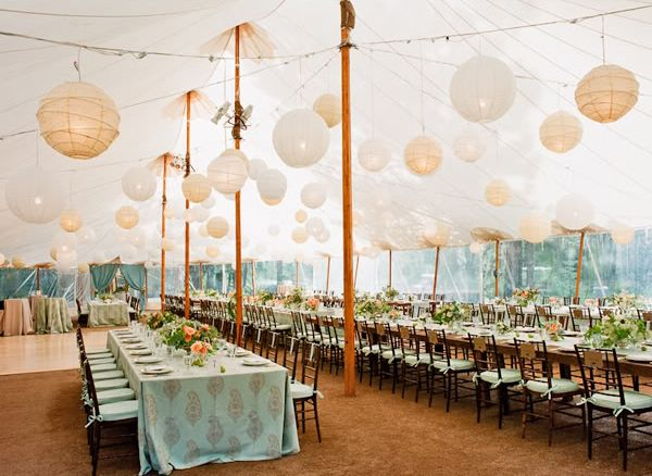 wedding ideas with paper lanterns aqua flowers and tablescapes receptions paper lanterns 28361