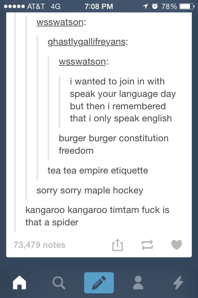 Oh yes, I remember Speak Your Language Day on Tumblr XD