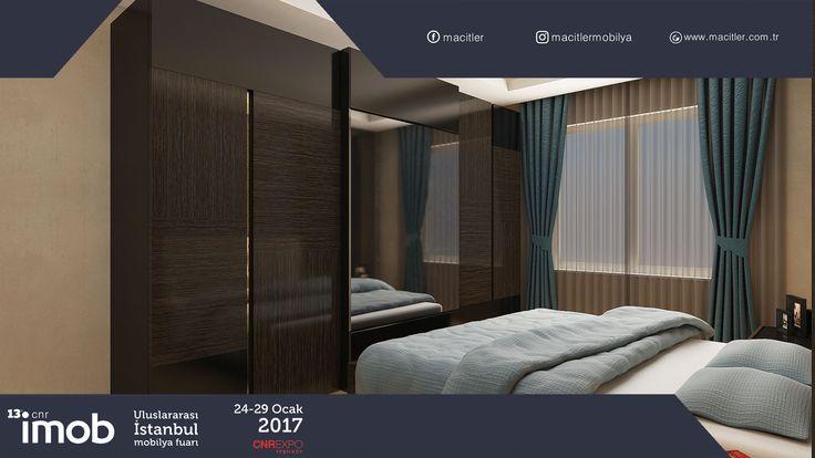 Yatak Odaları evin en önemli noktalarından biridir. Rutin bir günün ardından tüm stres ve yorgunluk ancak rahatlık ön planda tutularak düzenlenmiş bir yatak odasında atılabilir. Bu sebeple Macitler Mobilya sizin için en rahat, en güzel ve en kullanışlı yatak odalarını tasarlamaktadır. Macitler Mobilya'nın en güzel ve yeni yatak odası modelleri İMOB İstanbul Mobilya Fuarın'da Hal 5 F16'da sizlerle olacaktır.