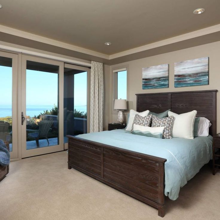 Room redo: Traditional bedroom with light blue bedding in ...