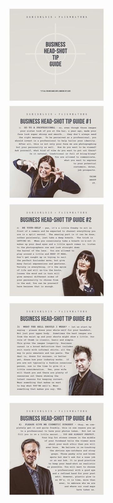 DREIBELBIS + FAIRWEATHER: Business Head-Shot Tip Guide - photography