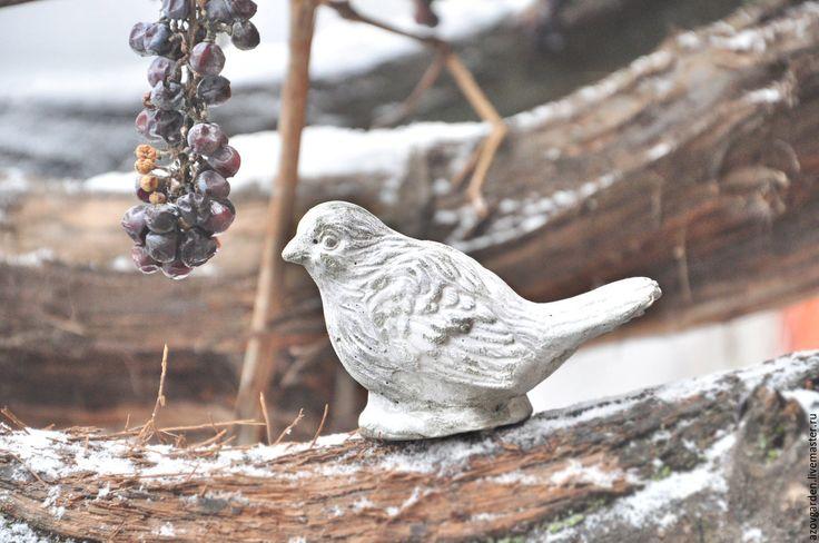 Купить Статуэтки Птиц из бетона Прованс Винтаж для дома и сада - интерьерное украшение, настольный декор