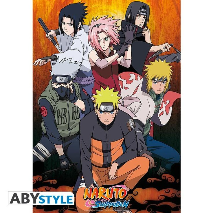 Naruto Shippuden – Film Rolled Group Poster (98×68) – Size: One Size