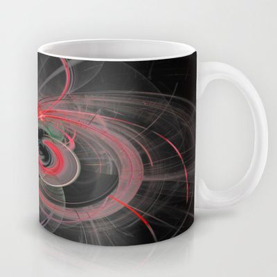 Fractal Design Space Red Mug by Fine2art - $15.00