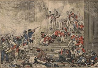 10 August (French Revolution). The Storming of the Tuileries palace - Grace Dalrymple Elliott exhibited a great deal of courage on that day. #AnInfamousMistress http://www.pen-and-sword.co.uk/An-Infamous-Mistress-Hardback/p/11613?aid=1150