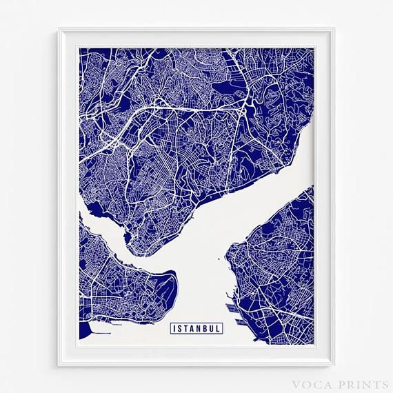 Istanbul, Turkey Street Map Wall Art Poster. Starting at $9.90 with 42 color choices. Click Photo for More Info - #streetmap #map #christmasgift #giftidea #Istanbul #Turkey