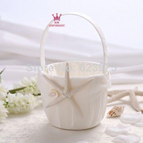 Beach Theme Starfish Flower Girl Basket Wedding Ceremony Supplies $14.99