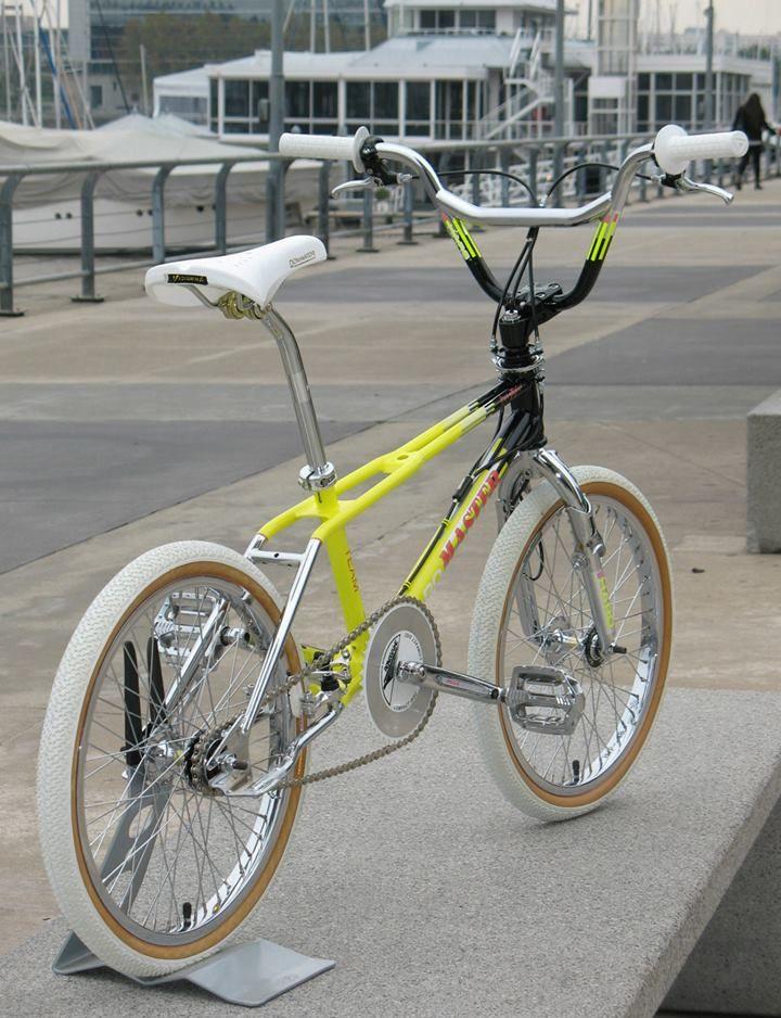 Yellow 1987 Haro Team Master build
