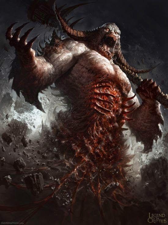 Monstros, demônios e outras criaturas nas sombrias ilustrações de fantasia de Dave Rapoza