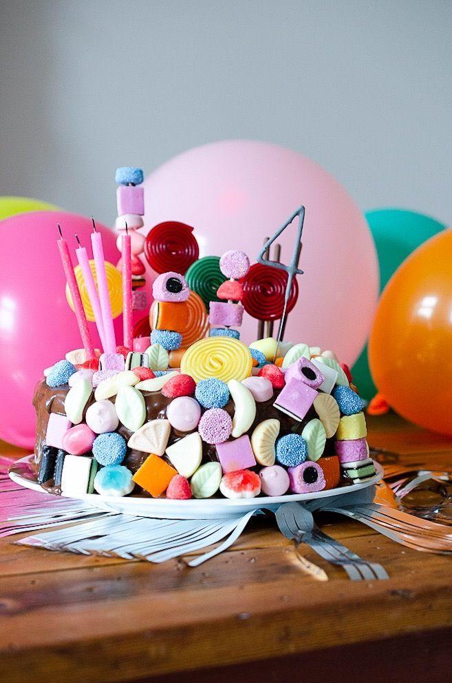 Candy Cake – Schnelle Geburtstagstorte für Kinder mit WOW-Effekt     Pinkep …   – Kindergeburtstag: Deko, Rezepte, Spielideen, Einladungskarten
