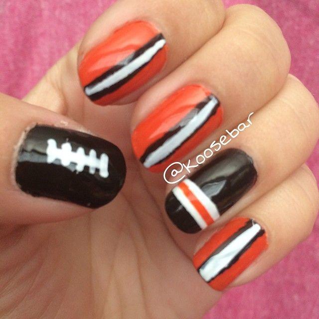 Cleveland Browns Football nails by koosebar