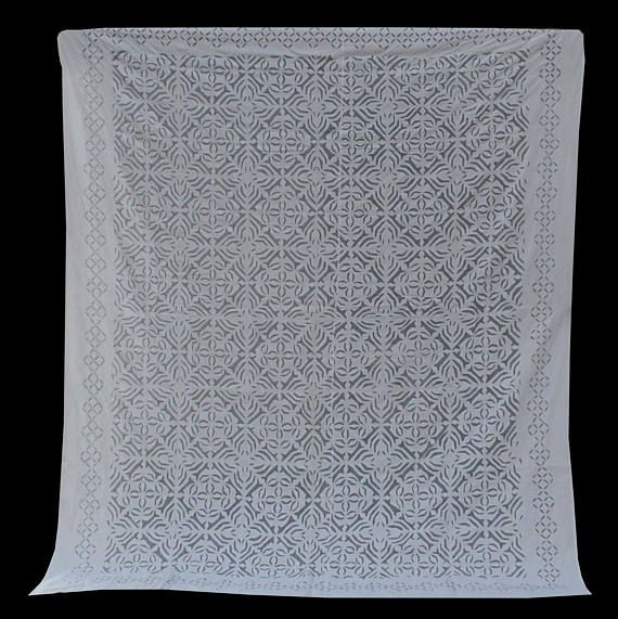 $99 Product Description : Cotton patch cut work in sunlight colored bed sheet looks amazing. This an elegant piece and can do wonders in your bed room. Traditional Handmade Bed sheet have remained the style-icon in Home Furnishing since centuries. During erstwhile era, royal families