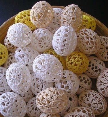 Crocheted Lace Eggs