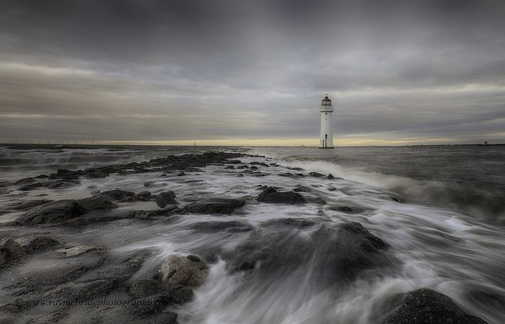 """Perch Rock Lighthouse"" (Motion on the Mersey)"
