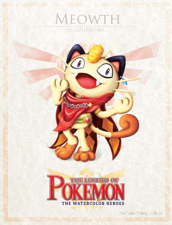 Pokemon & Zelda -> Meowth & Ghirahim