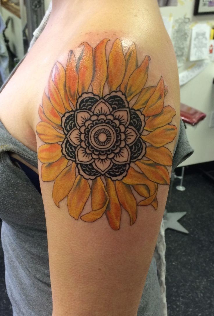 Sunflower Tattoo Ideas With Bright Meanings From: TattoosWin.com/