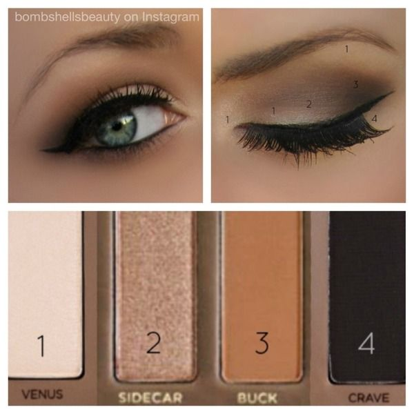 Neutral smokey eyes using the Urban Decay Naked Palette 2