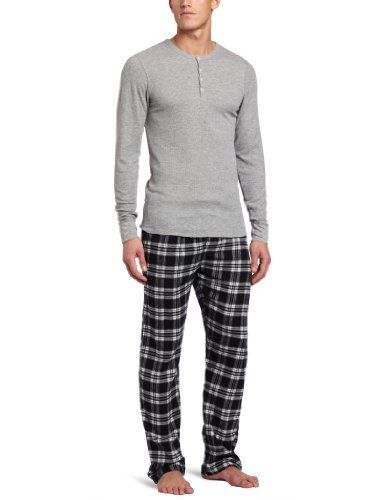 Bottoms Out Men's Flannel Sleepwear Gift Set, Black/Light Heather Grey, X-Large Bottoms Out,http://www.amazon.com/dp/B009MHI3MY/ref=cm_sw_r_pi_dp_h88.rb05FJZ2DG1N