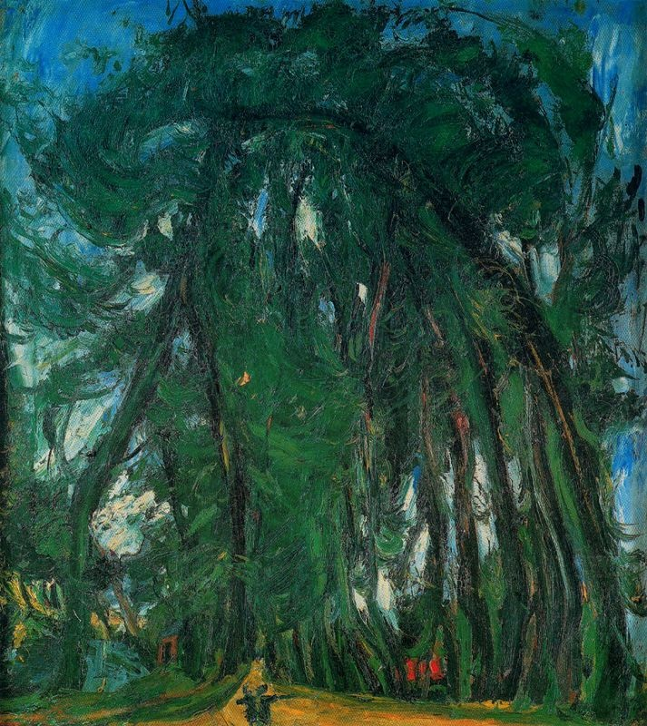 Chaim Soutine. 'Alley of Trees'. Oil on canvas. 1935.