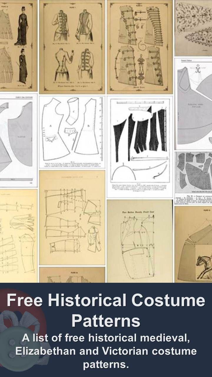 Free Historical Costume Patterns 872 best Patterns