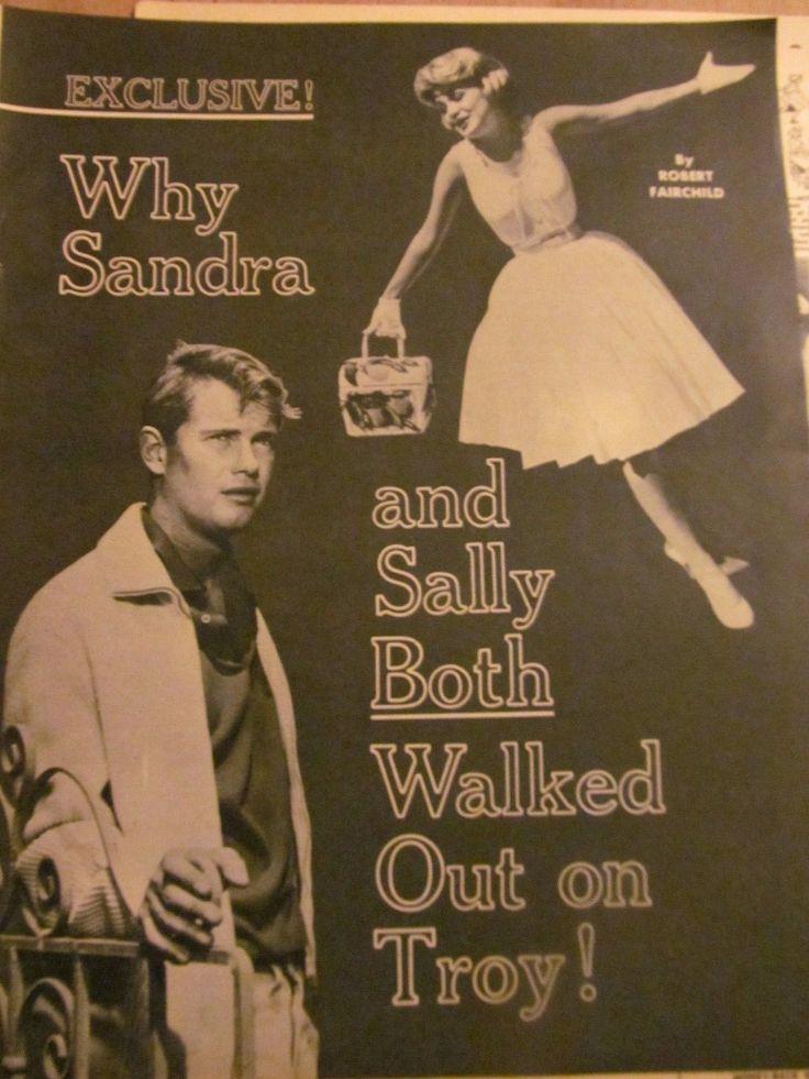 Troy Donahue, Three Page Vintage Clipping, Sandra Dee | eBay