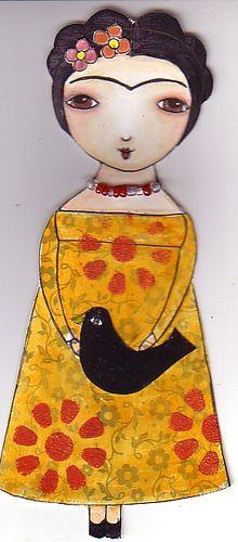 Frida Kahlo paper doll, purplecat44