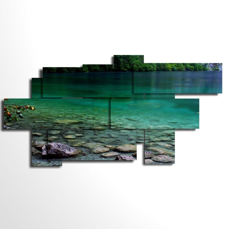 wall art multilevel and multipanel - 9p - cm 209x107 large size