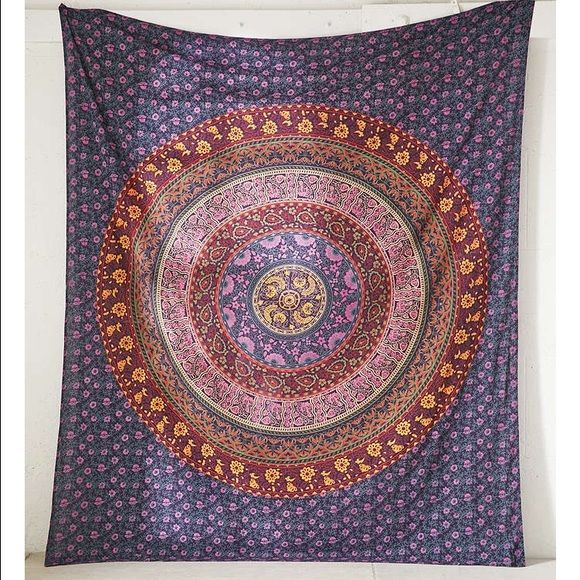 NWOT urban outfitters tapestry Super cute tapestry from urban outfitters. Has never been used and is in perfect condition! Very bohemian pattern and looks really cute with fairy lights. Dimensions are 84 x 100 Urban Outfitters Other