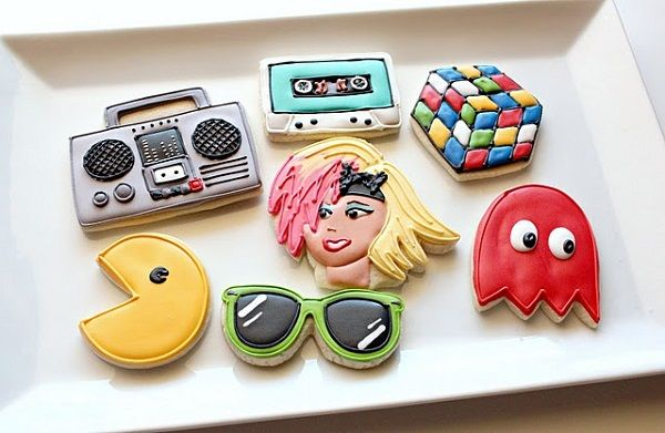 80s-Themed Cookies - 80s Decorated Treats