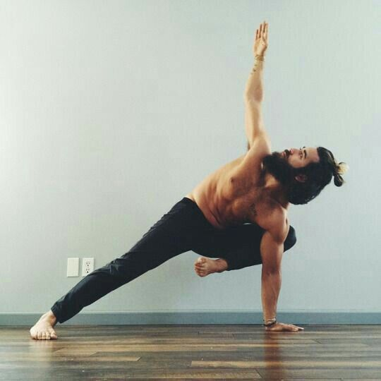 Strong arm balance. Maybe I have to grow a sick beard to do this...