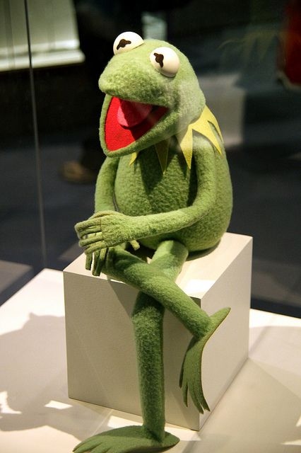 Kermit the Frog on display at the Smithsonian Museum of American History in Washington, D.C.