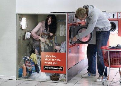 washing machine creative job ad