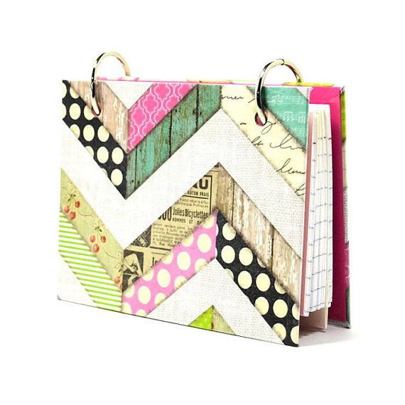 3 x 5 index card binder chevron recipe holder by ArtBySunfire, $9.00