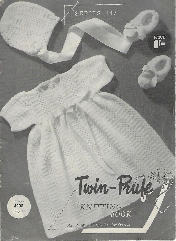 4223485ba Baby Knits Twin-Prufe 147 vintage knitting pattern book  TwinPrufe ...