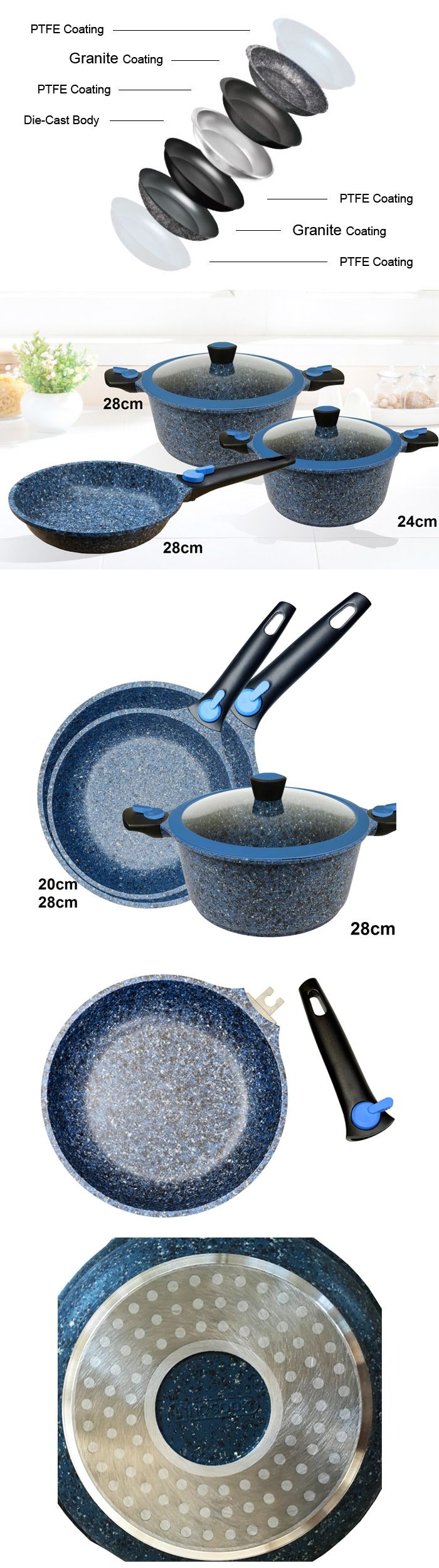 Granite Coating Cookware Combo Set - 3pc, AU$149.00 plus postage from Always Sales (price correct as at 18.09.17)