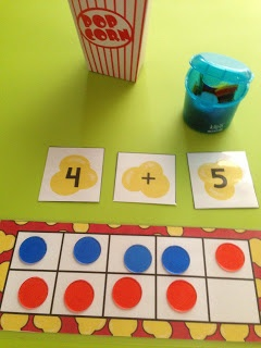 Poppin' for Numbers - fun math center activity.  K-1/2