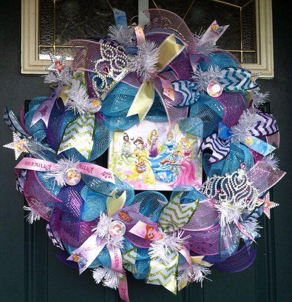 Disney Princess Wreath Deco Mesh Wreath Girl by CntryGrlWreaths, $65.00