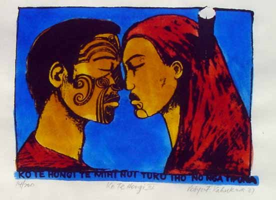 Hongi by Robyn Kahukiwa for Sale - New Zealand Art Prints