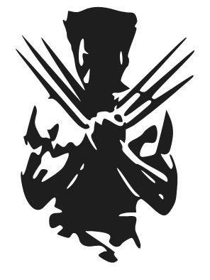 Wolverine Silhouette Logo Vinyl Decal Sticker Car by RafysDecals