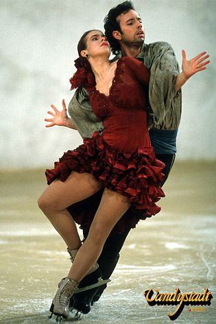 Katarina Witt (Germany) and Brian Boitano (USA), 1989 (photo credit: Gérard Vandystadt)