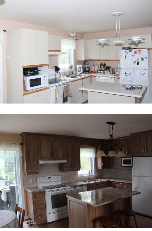 Une transformation des années 80 aux années 2014 / Before and after kitchen makeovers