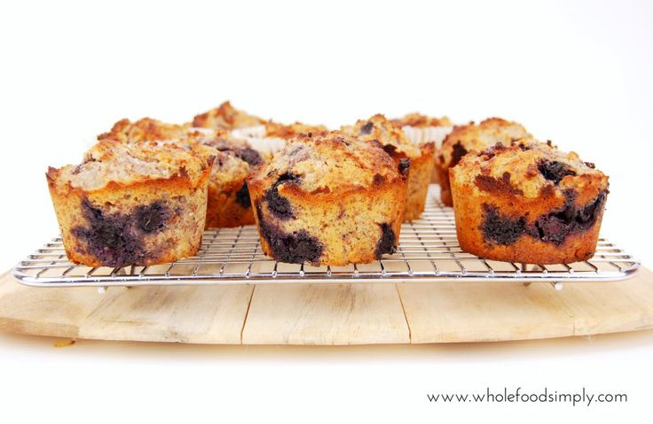 Blueberry Muffins. Simple, delicious and free from gluten, grains, dairy and refined sugar. Enjoy.
